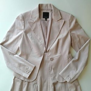 The Limited Blush Pink Two Piece Skirt Suit Set